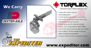 Expediter Dexter Torflex Axles, trailerparts, west palm beach, riviera beach, south florida, hitches, electrical, trailers, jacks, locks, brakes, assemblies, hubs, drums, axles, couplers, suspensions, tires, wheels, actuators, lights, winches, towing accessories, boat trailer parts, cargo control , switches, wholesale, dexter, fulton, RAM, bulldog, tiedown, expediter, trailerpro